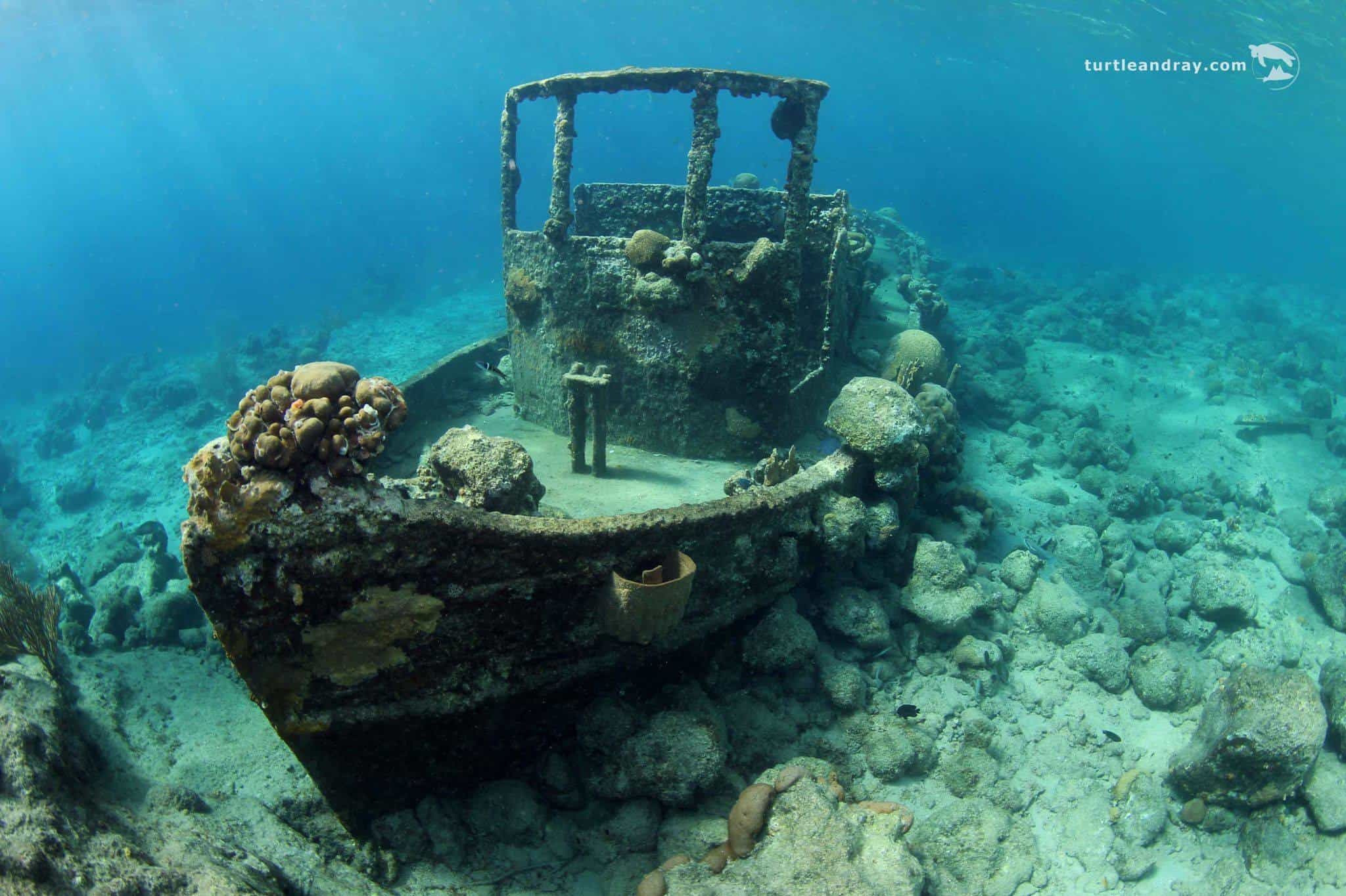 Catamaran BlueFinn Curacao Snorkeling Shipwreck Tugboat