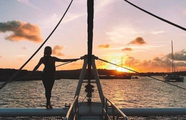 Catamaran BlueFinn Sunset Sailing Curacao 6