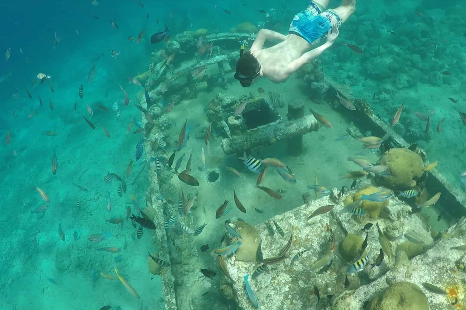 Catamaran BlueFinn Curacao Snorkeling Shipwreck 2
