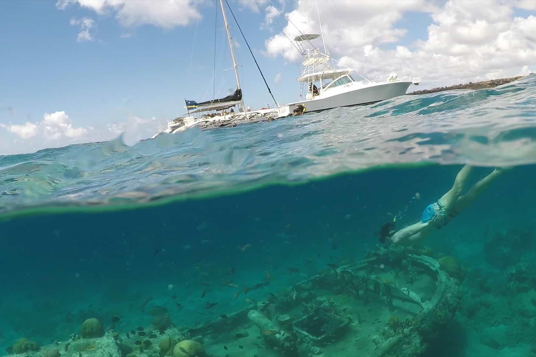 Catamaran BlueFinn Curacao Snorkeling Shipwreck
