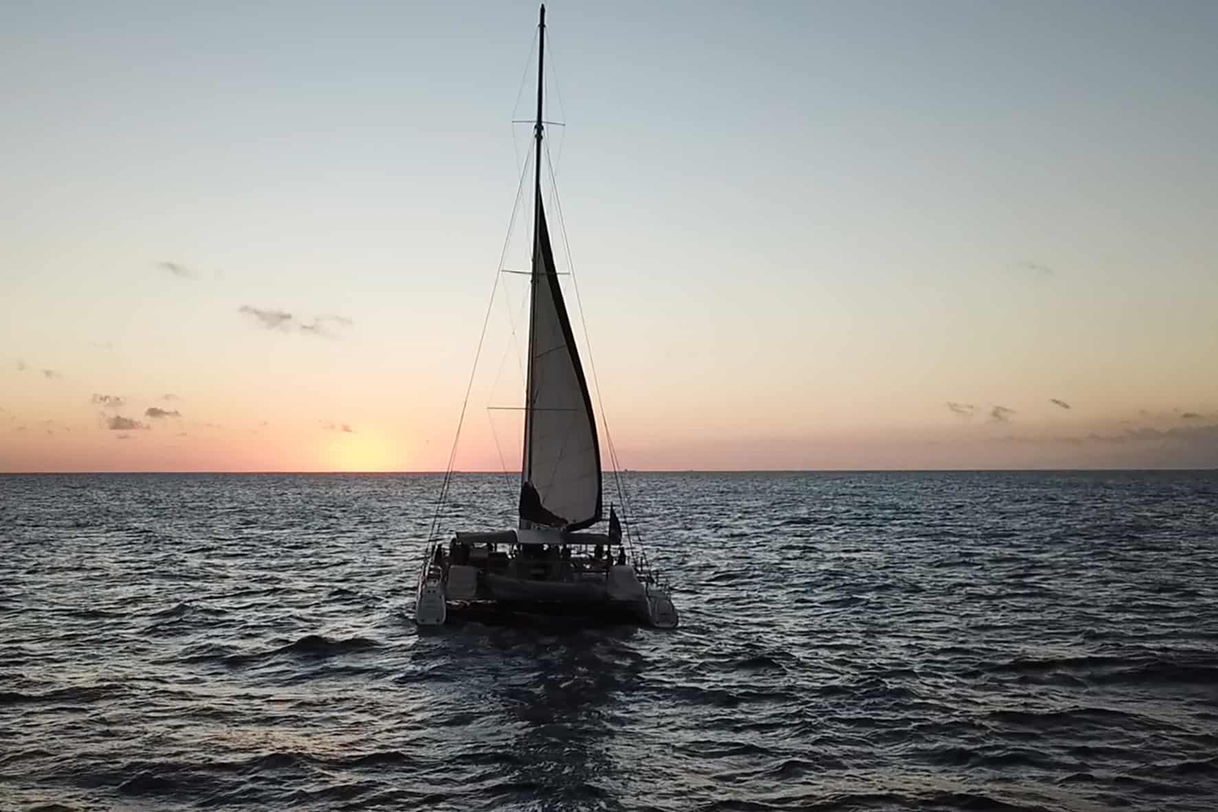 Catamaran BlueFinn Sunset Sailing Curacao 2