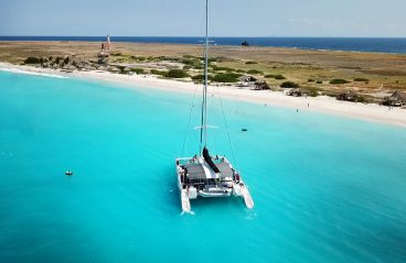 Catamaran BlueFinn at Klein Curacao