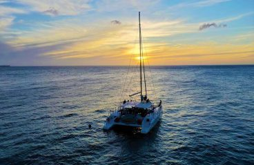 Catamaran Blue C Sunset Sailing Curacao 1
