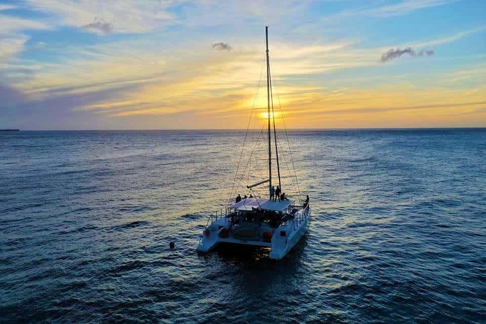 Catamaran Blue C Sunset Sailing Curacao 1