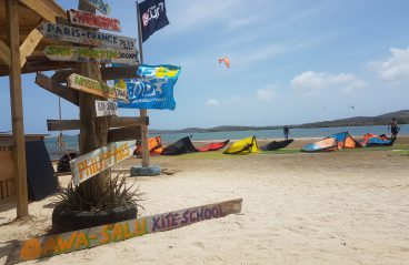 Kiteboarding in Curacao at Sint Joris 2